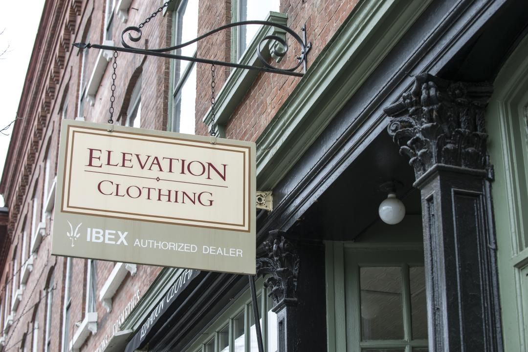 Elevation Clothing at 15 Central Street in Woodstock, Vermont