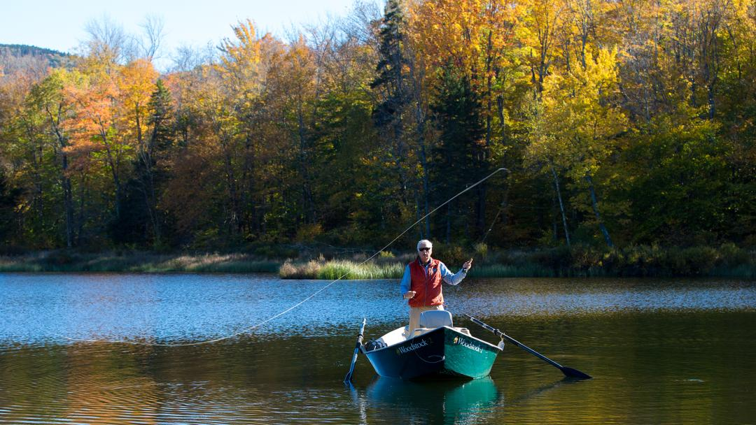 Fly fishing in Woodstock, Vermont