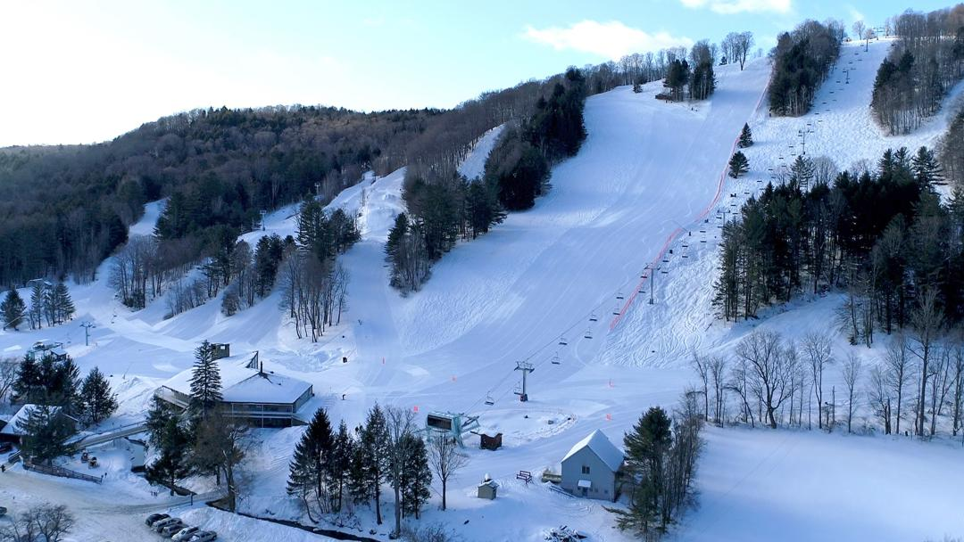 Aerial View of Suicide Six Ski Area