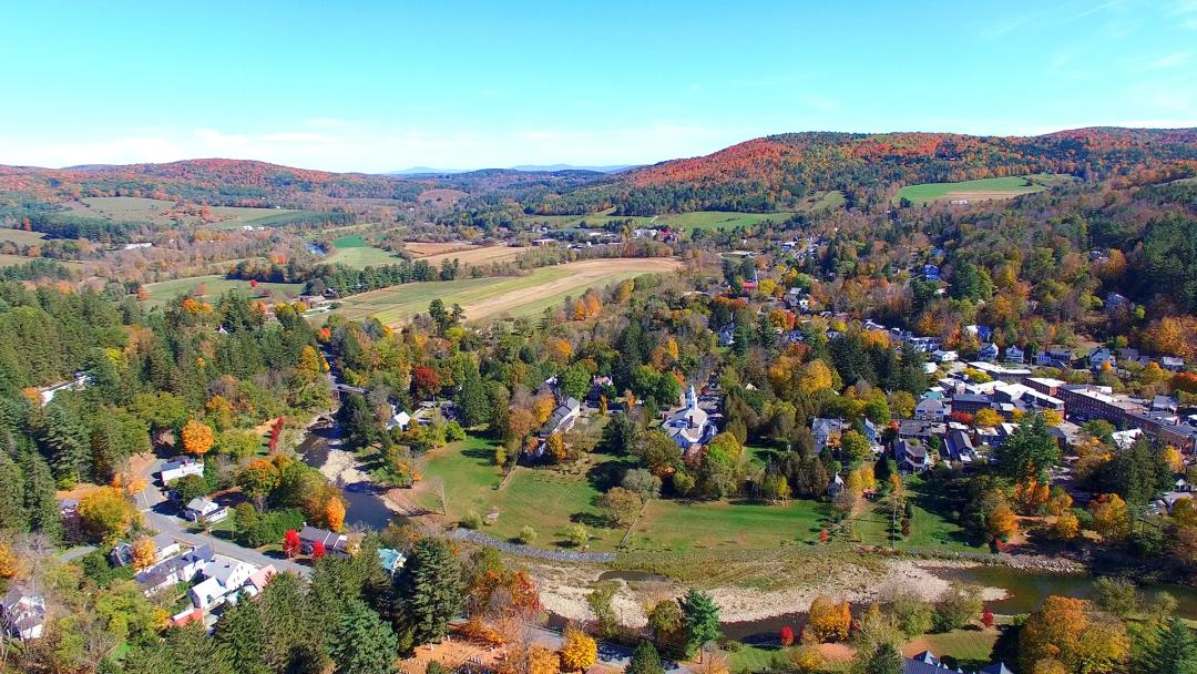 Foliage in Woodstock Vermont