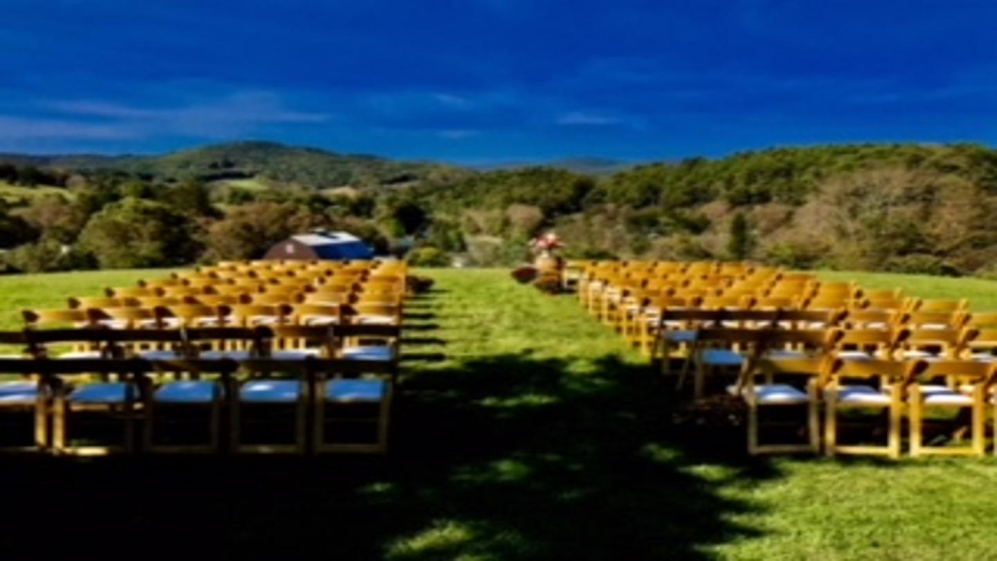 Apple Hill Inn wedding ceremony setup