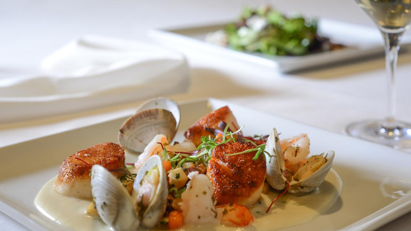 Scallops & Clam dish