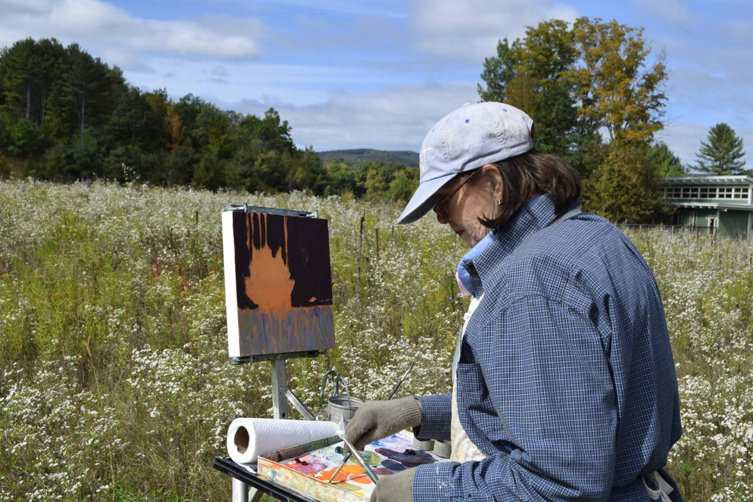 Art painting outdoors