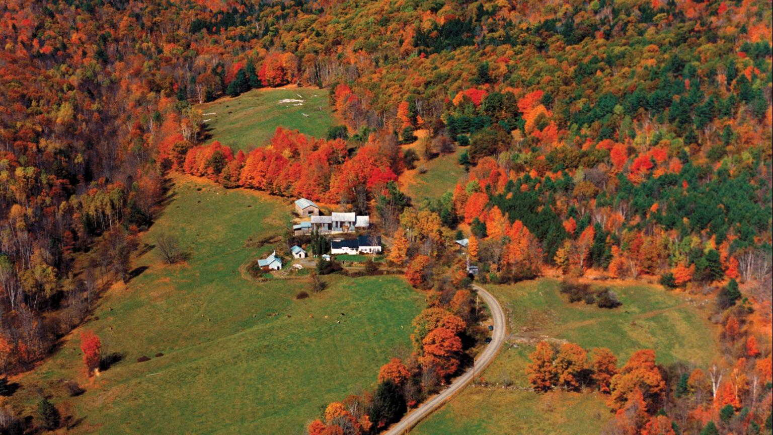 Fall foliage in Vermont, Vermont Farm